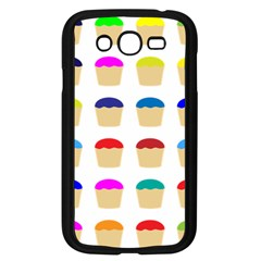 Colorful Cupcakes Pattern Samsung Galaxy Grand Duos I9082 Case (black) by Nexatart