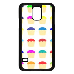 Colorful Cupcakes Pattern Samsung Galaxy S5 Case (black) by Nexatart