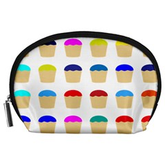 Colorful Cupcakes Pattern Accessory Pouches (large)  by Nexatart