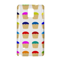 Colorful Cupcakes Pattern Samsung Galaxy Note 4 Hardshell Case
