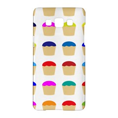 Colorful Cupcakes Pattern Samsung Galaxy A5 Hardshell Case  by Nexatart