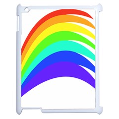 Rainbow Apple Ipad 2 Case (white)