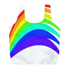 Rainbow Full Print Recycle Bags (l)