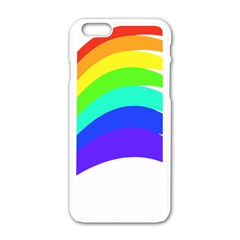 Rainbow Apple Iphone 6/6s White Enamel Case by Nexatart