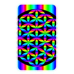 Rainbow Flower Of Life In Black Circle Memory Card Reader by Nexatart