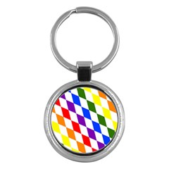 Rainbow Flag Bavaria Key Chains (round)  by Nexatart