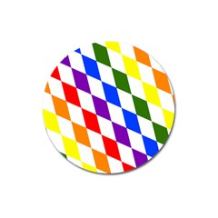 Rainbow Flag Bavaria Magnet 3  (round) by Nexatart