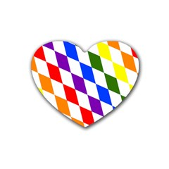 Rainbow Flag Bavaria Rubber Coaster (heart)