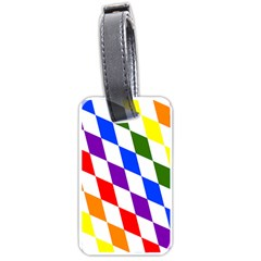 Rainbow Flag Bavaria Luggage Tags (two Sides) by Nexatart