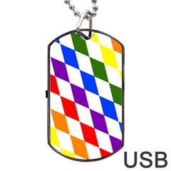 Rainbow Flag Bavaria Dog Tag Usb Flash (two Sides)