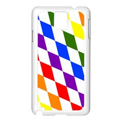 Rainbow Flag Bavaria Samsung Galaxy Note 3 N9005 Case (white)