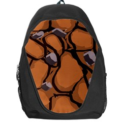 Seamless Dirt Texture Backpack Bag by Nexatart