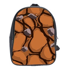 Seamless Dirt Texture School Bags (xl)