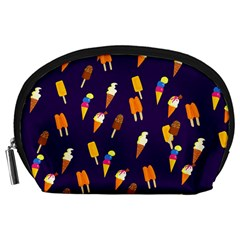 Seamless Ice Cream Pattern Accessory Pouches (large)  by Nexatart