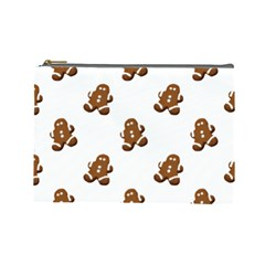 Gingerbread Seamless Pattern Cosmetic Bag (large)  by Nexatart