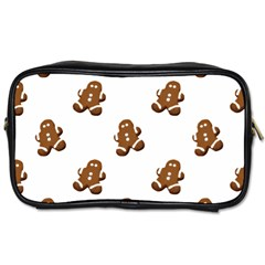 Gingerbread Seamless Pattern Toiletries Bags 2 Side