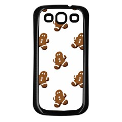Gingerbread Seamless Pattern Samsung Galaxy S3 Back Case (black)