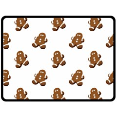 Gingerbread Seamless Pattern Double Sided Fleece Blanket (large)  by Nexatart