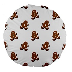 Gingerbread Seamless Pattern Large 18  Premium Flano Round Cushions by Nexatart