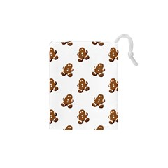 Gingerbread Seamless Pattern Drawstring Pouches (xs)  by Nexatart