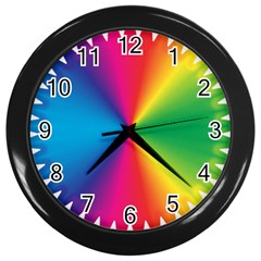 Rainbow Seal Re Imagined Wall Clocks (black) by Nexatart
