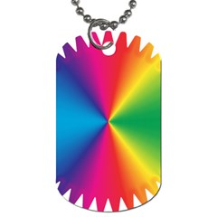 Rainbow Seal Re Imagined Dog Tag (two Sides)