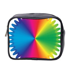 Rainbow Seal Re Imagined Mini Toiletries Bag 2 Side by Nexatart