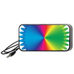 Rainbow Seal Re Imagined Portable Speaker (black) by Nexatart