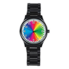 Rainbow Seal Re Imagined Stainless Steel Round Watch