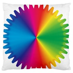 Rainbow Seal Re Imagined Large Flano Cushion Case (one Side)