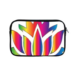 Rainbow Lotus Flower Silhouette Apple Macbook Pro 13  Zipper Case by Nexatart