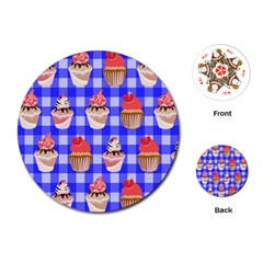 Cake Pattern Playing Cards (round)  by Nexatart