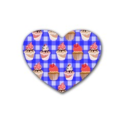 Cake Pattern Rubber Coaster (heart)