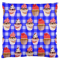 Cake Pattern Standard Flano Cushion Case (one Side)