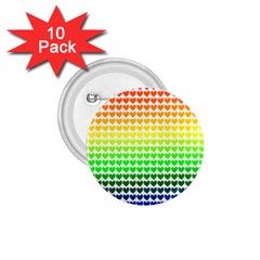 Rainbow Love 1 75  Buttons (10 Pack) by Nexatart