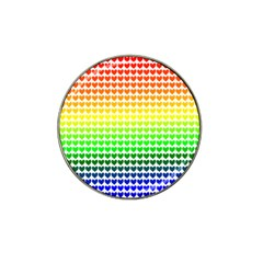 Rainbow Love Hat Clip Ball Marker (4 Pack)