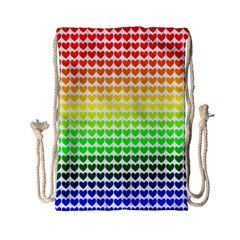 Rainbow Love Drawstring Bag (small) by Nexatart