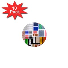 Texture Package 1  Mini Magnet (10 Pack)  by Nexatart