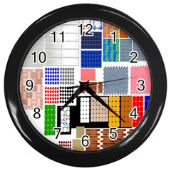 Texture Package Wall Clocks (black)