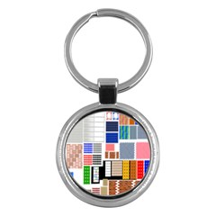 Texture Package Key Chains (round)