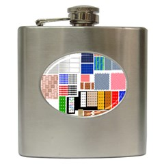 Texture Package Hip Flask (6 Oz) by Nexatart