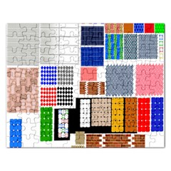 Texture Package Rectangular Jigsaw Puzzl by Nexatart