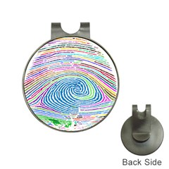 Prismatic Fingerprint Hat Clips With Golf Markers