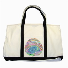 Prismatic Fingerprint Two Tone Tote Bag