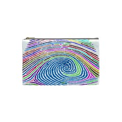 Prismatic Fingerprint Cosmetic Bag (small)  by Nexatart