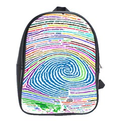 Prismatic Fingerprint School Bags (xl)  by Nexatart