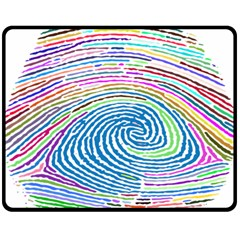 Prismatic Fingerprint Double Sided Fleece Blanket (medium)  by Nexatart