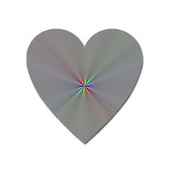 Square Rainbow Heart Magnet by Nexatart
