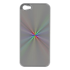 Square Rainbow Apple Iphone 5 Case (silver)