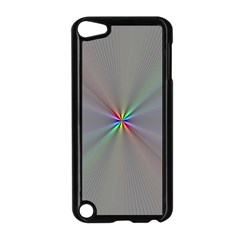 Square Rainbow Apple Ipod Touch 5 Case (black) by Nexatart